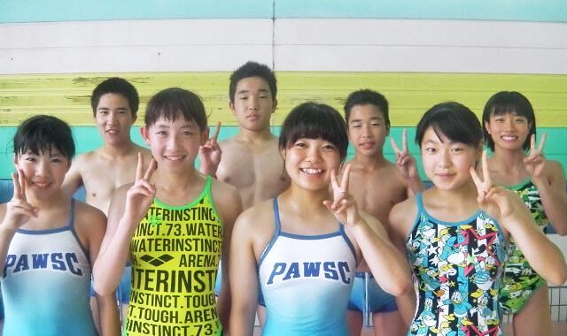 キッズ水泳選手
