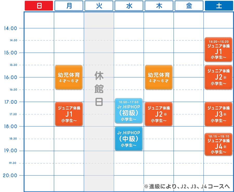 体操・ダンスクラス/練習スケジュール